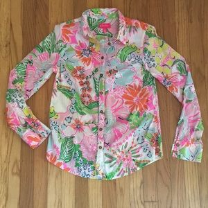Lilly Pulitzer for Target Nosey Posie Button Down